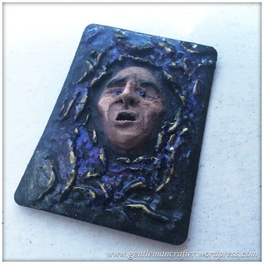 Artist Trading Card Daily - 100 - Air Dry Clay Face 2