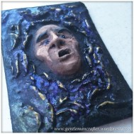 Artist Trading Card Daily - 100 - Air Dry Clay Face 4