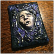 Artist Trading Card Daily - 100 - Air Dry Clay Face 6