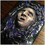 Artist Trading Card Daily - 100 - Air Dry Clay Face 7