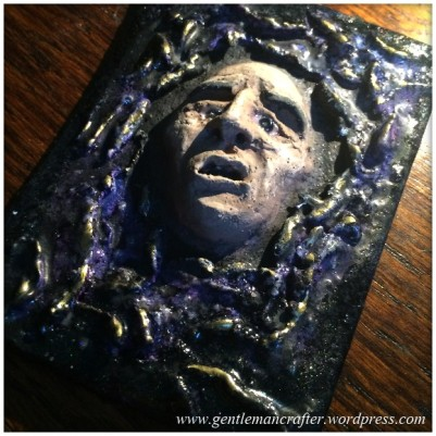 Artist Trading Card Daily - 100 - Air Dry Clay Face 8