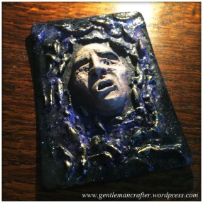 Artist Trading Card Daily - 100 - Air Dry Clay Face 9