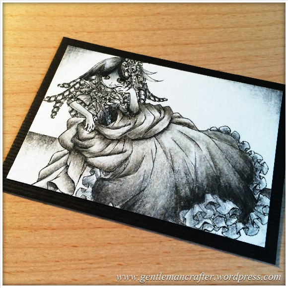 Artist Trading Card Daily 97 - Using Lyra Pencils 1