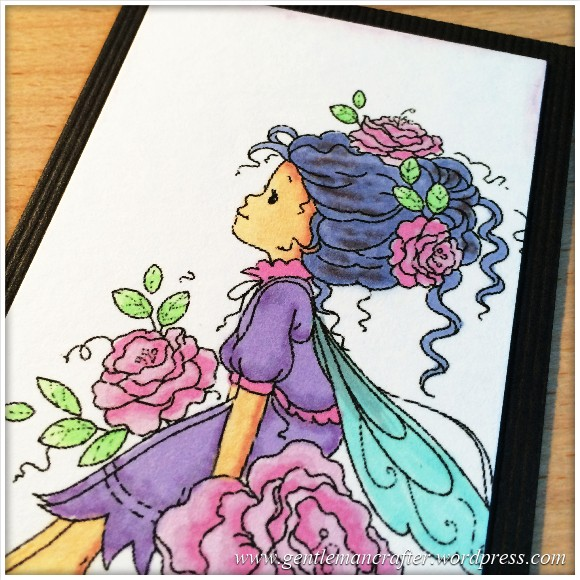 Artist Trading Card Daily 98 - Wee Fairy With Pro Markers 2
