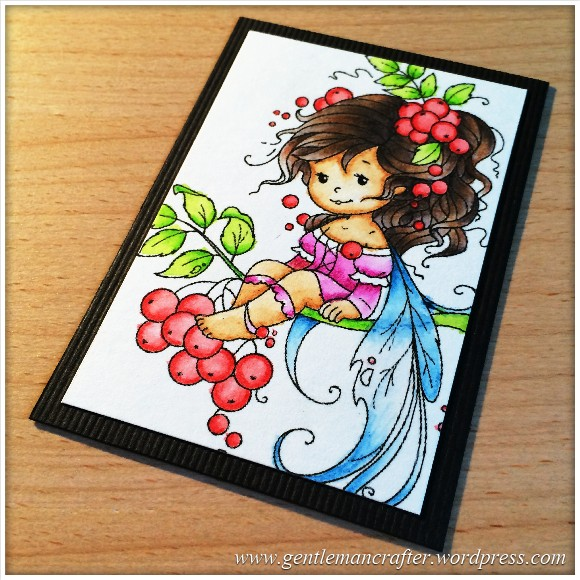 Artist Trading Card Daily 99 - Rowan Fairy Coloured With Inktense Pencils 1