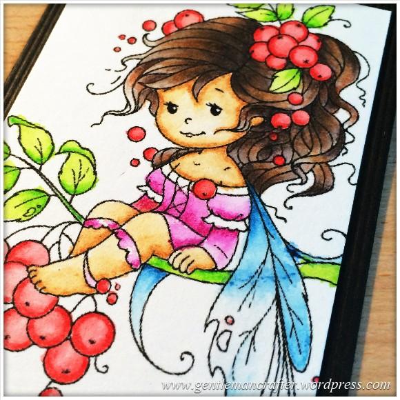 Artist Trading Card Daily 99 - Rowan Fairy Coloured With Inktense Pencils 2