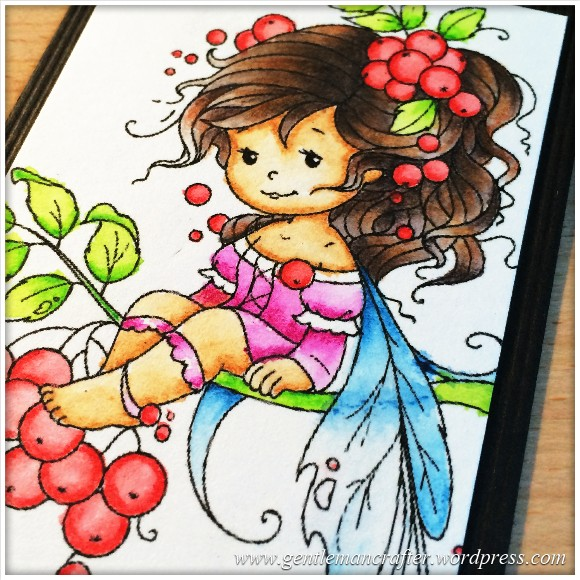 Artist Trading Card Daily 99 - Rowan Fairy Coloured With Inktense Pencils 2