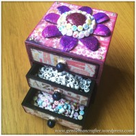 Decorating A Set Of MDF Drawers With Craftwork Cards Paper - 10