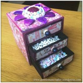 Decorating A Set Of MDF Drawers With Craftwork Cards Paper - 11