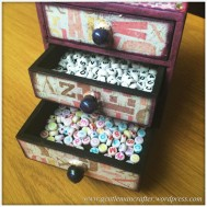 Decorating A Set Of MDF Drawers With Craftwork Cards Paper - 14