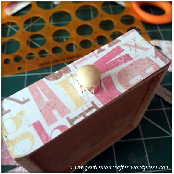 Decorating A Set Of MDF Drawers With Craftwork Cards Paper - 6
