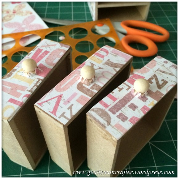Decorating A Set Of MDF Drawers With Craftwork Cards Paper - 7