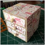 Decorating A Set Of MDF Drawers With Craftwork Cards Paper - 8