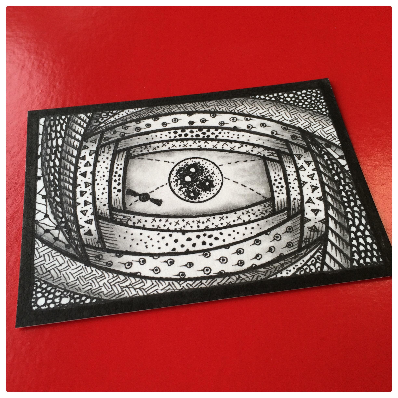 Zen Doodle Artist Trading Card Daily - 112