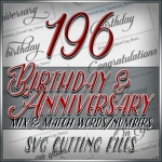 Anniversary Word SVG Cutting Files