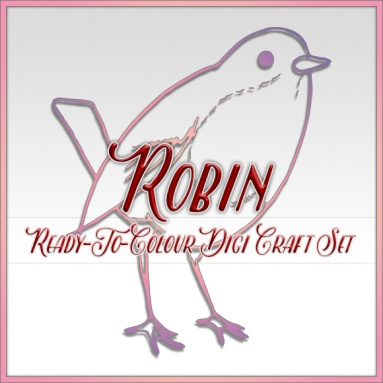 Ready To Colour Robin Digi Craft Set Logo