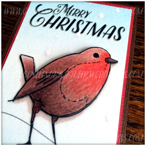 Robin Artist Trading Card Colouring In - 1