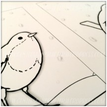 Robin Artist Trading Card Colouring In - 5