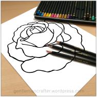 Rose Digi Stamp Manadala - 7
