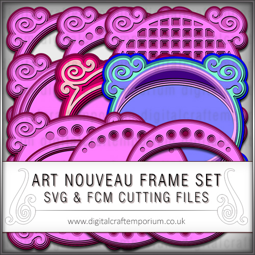 Art Nouveau Frame Set 2 Cutting Files