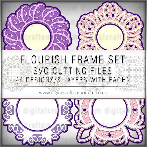 Flourish Frame Set SVG Cutting Files