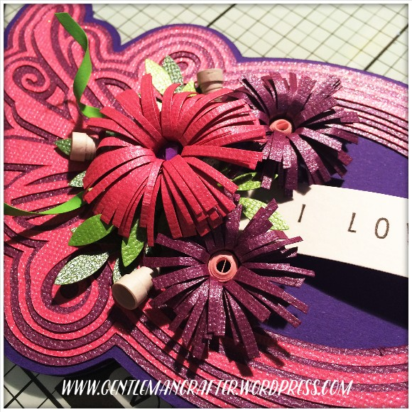 Art Nouveau Layered Front Shaped Card - 6