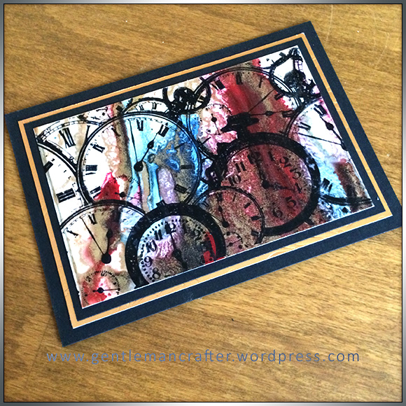 ATC Abstract Encaustic Wax Art - 1
