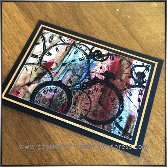 ATC Abstract Encaustic Wax Art - 2