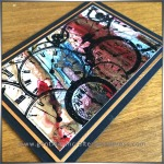 ATC Abstract Encaustic Wax Art - 3