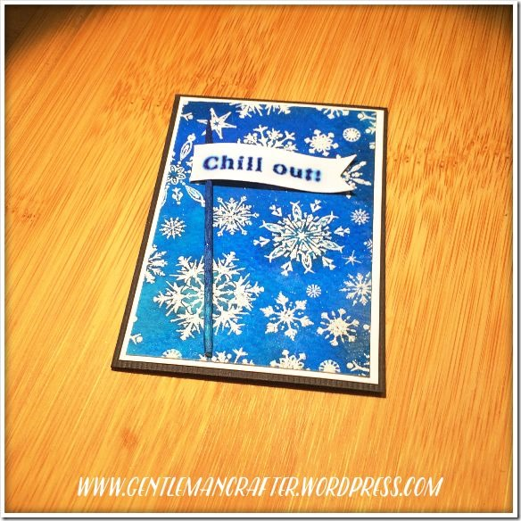 Artist Trading Card Daily 121 Impression Obsession Snowflake 2