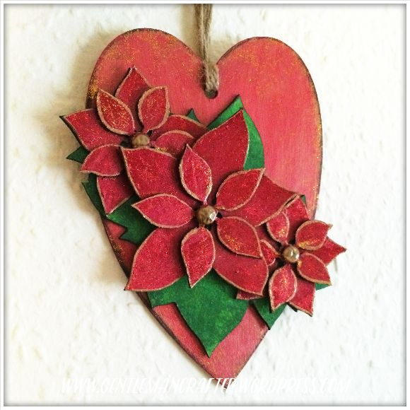 Georgina Ford - Poinsettia Heart Finished 1.1