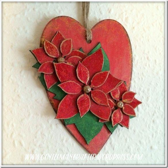 Georgina Ford - Poinsettia Heart Finished 1