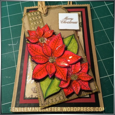 Georgina Ford Poinsettia Stamp Gift Bag (1)