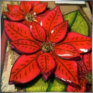 Georgina Ford Poinsettia Stamp Gift Bag (2)