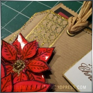 Georgina Ford Poinsettia Stamp Gift Bag (3)