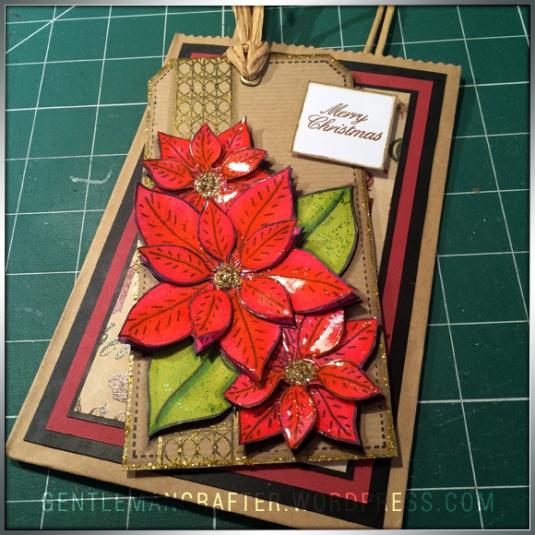 Georgina Ford Poinsettia Stamp Gift Bag (4)