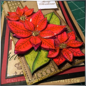 Georgina Ford Poinsettia Stamp Gift Bag (5)