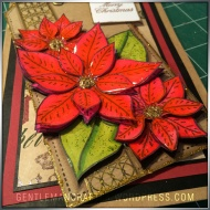 Georgina Ford Poinsettia Stamp Gift Bag (6)