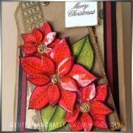 Georgina Ford Poinsettia Stamp Gift Bag (7)