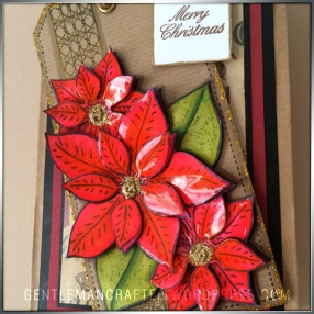 Georgina Ford Poinsettia Stamp Gift Bag (7)