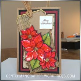 Georgina Ford Poinsettia Stamp Gift Bag (9)