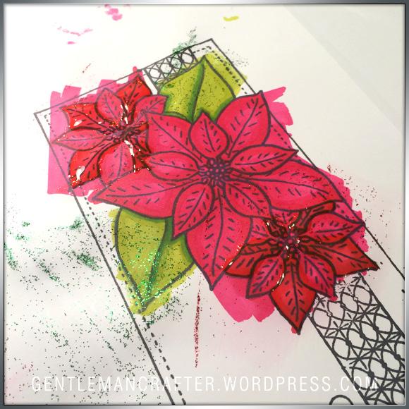 Georgina Ford Poinsettia Stamp Step (2)