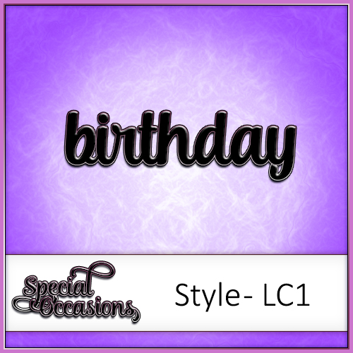 Special Occasions Word Pack Style 1