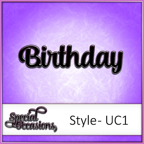 Special Occasions Word Pack Style 2