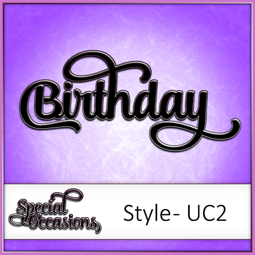 Special Occasions Word Pack Style 3