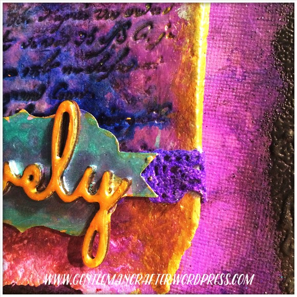 Mini Mixed Media Canvas by John Bloodworth Gentleman Crafter - 9