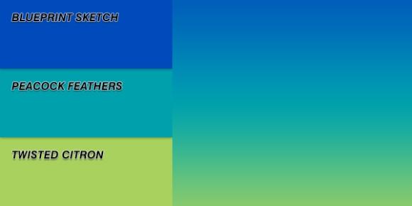 Distress Ink Linear Blend Swatch - Hazy Horizon