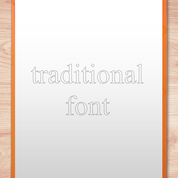 Single Line Font - Outline Example