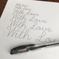 Single Line Font - Pen Test 2