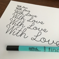 Single Line Font - Pen Test 4